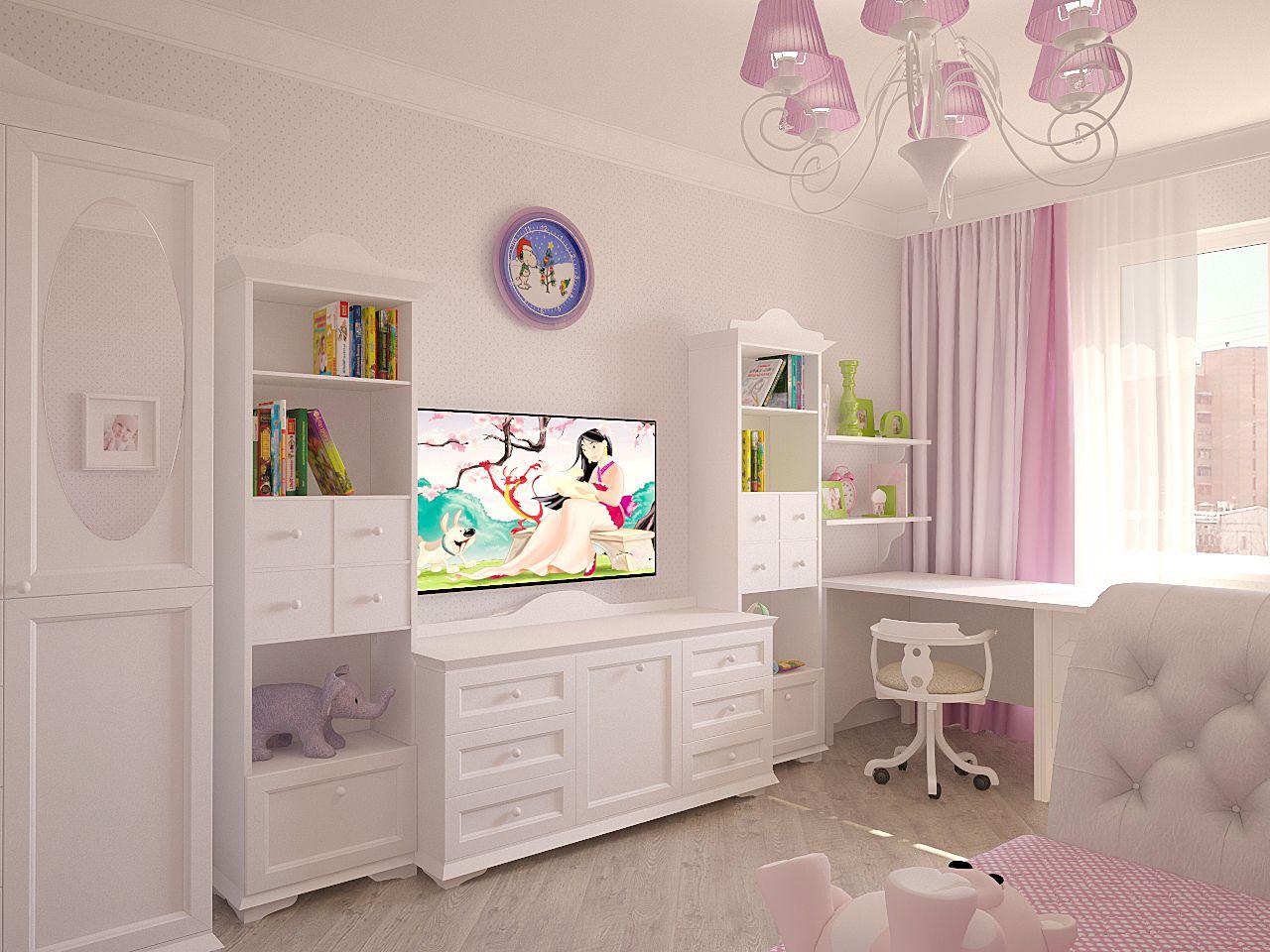 Дизайн детской комнаты Киев прованс для девочки, классика