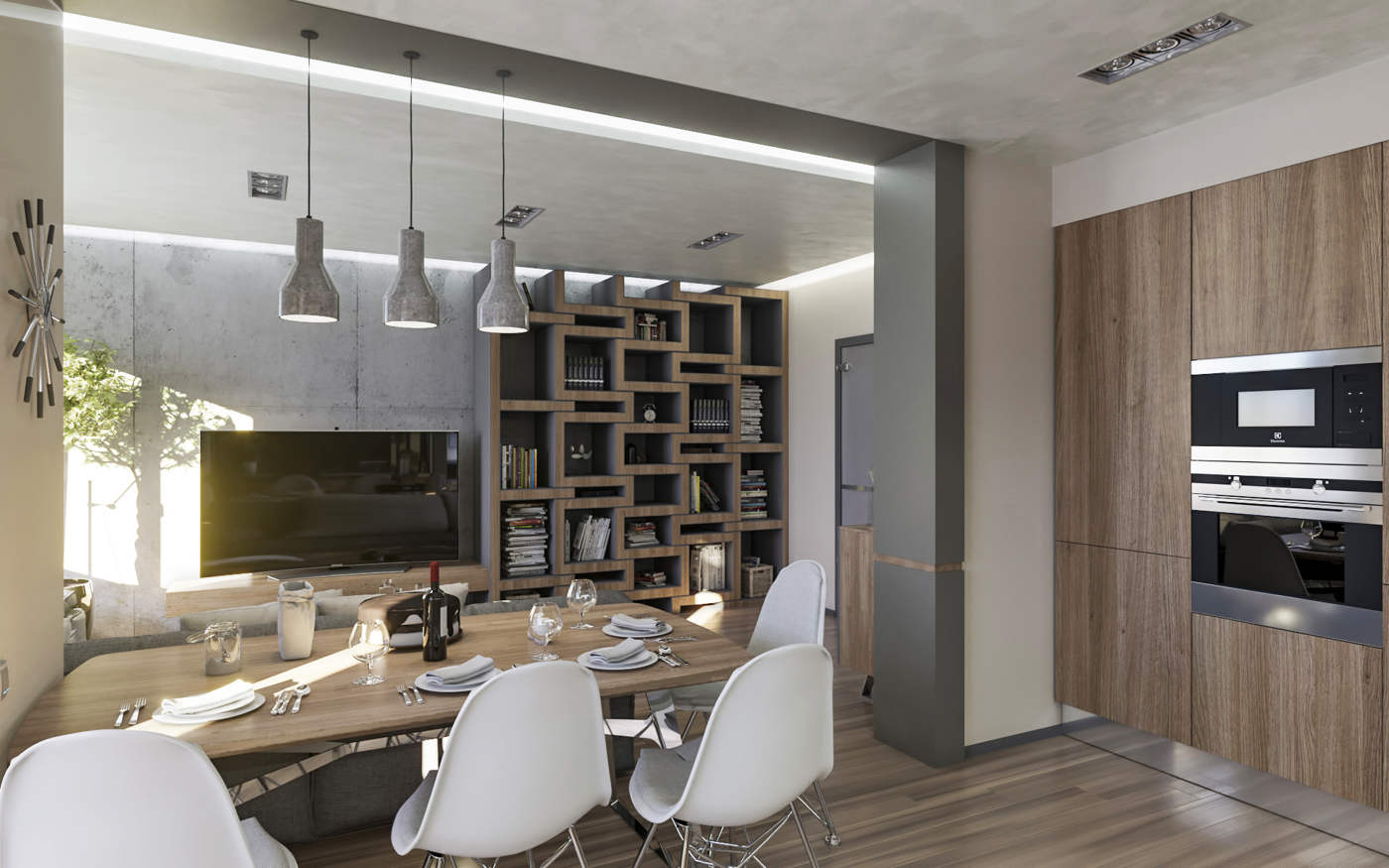 Дизайн кухни столовой фото Киев. скандинавский стиль, лофт ЖК Малахит