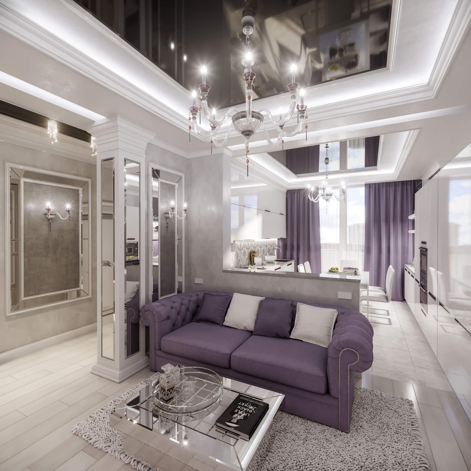 Дизайн нтерьера гостинной ЖК Аристократ Киев Арт деко