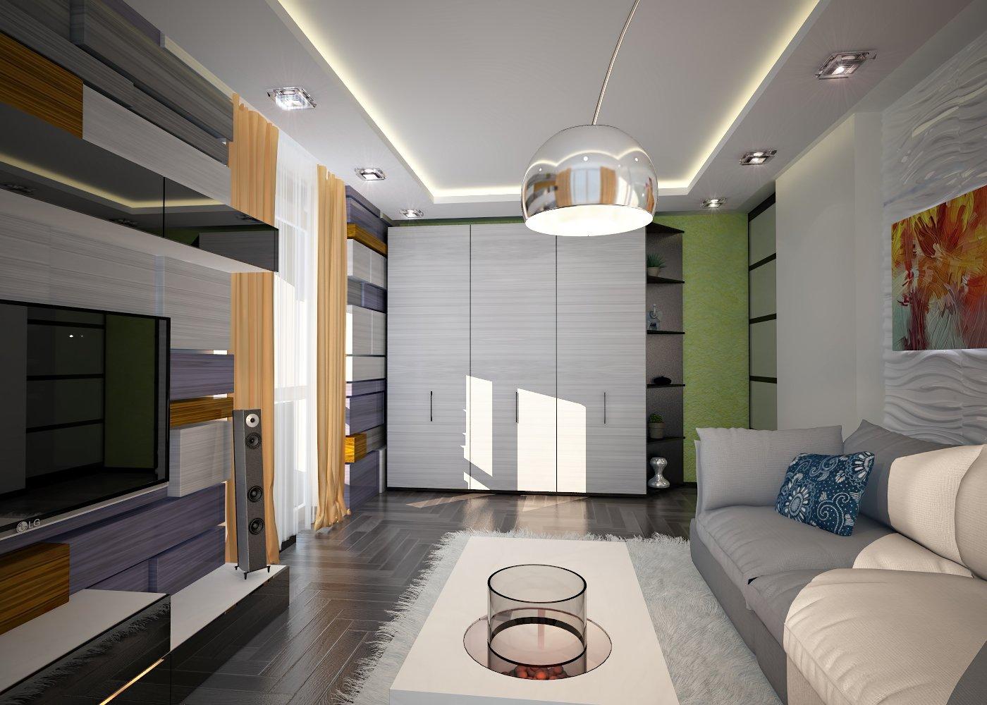 Дизайн интерьера гостинной фото Киев. ЖК Manhattan City
