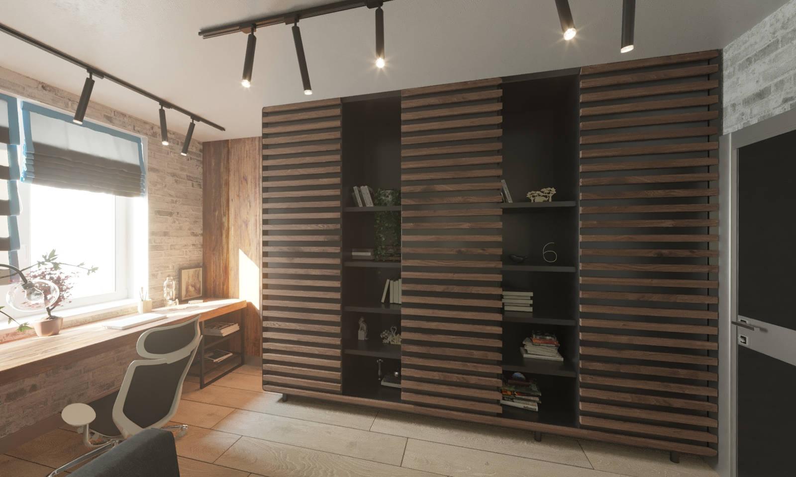 Дизайн детской комнаты Киев для подростка для взрослого, лофт, скандинавский, робочее место