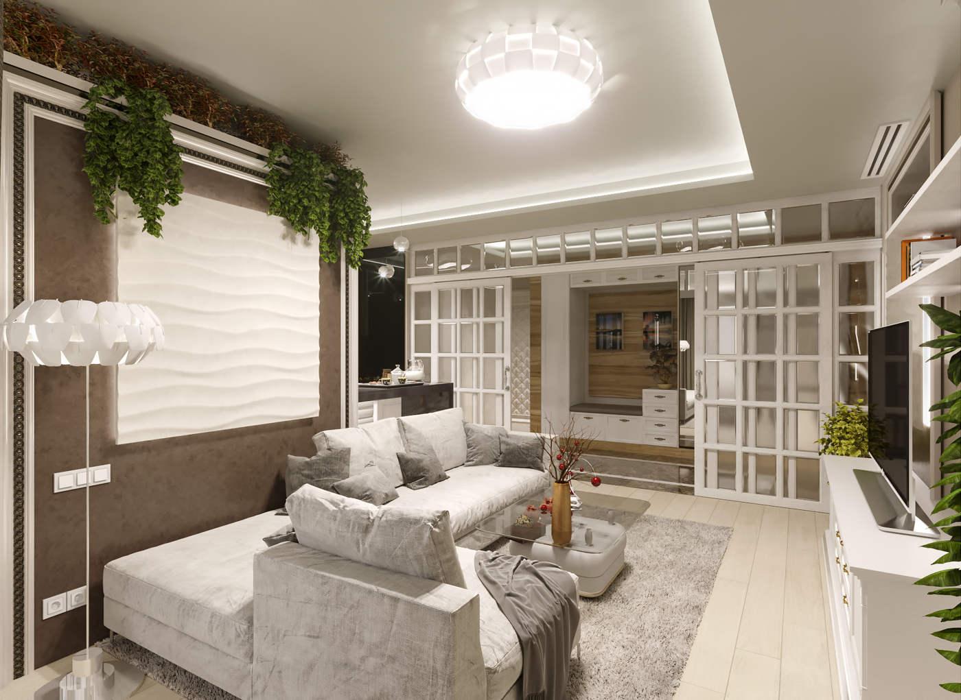 Дизайн нтерьера гостинной Киев центр киева в модерне раздвижная перегородка