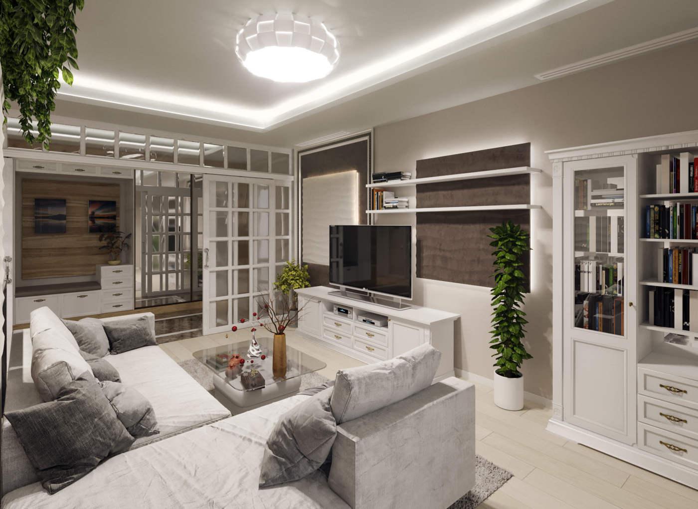 Дизайн гостинной в серых тонах Киев. ЖК Альтер Эго. современный стиль