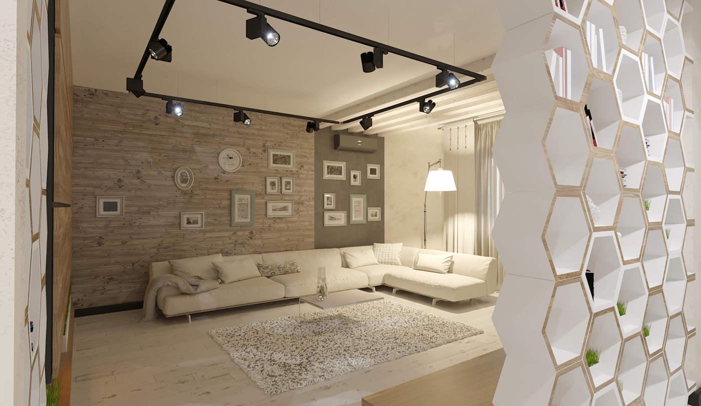 Дизайн нтерьера гостинной Киев загородного дома Буча с панелями на стене