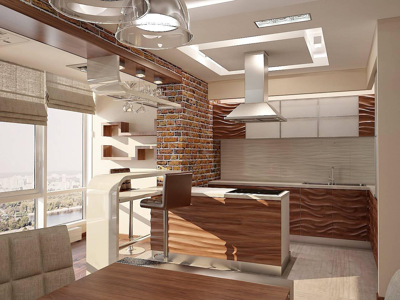 Дизайн кухни в квартире Киев в современном стиле