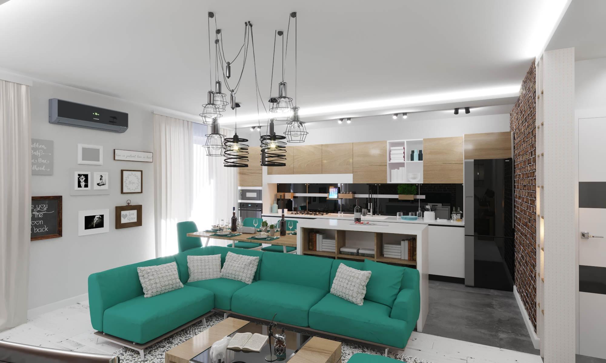 Дизайн нтерьера гостинной Киев кухни в современном стиле