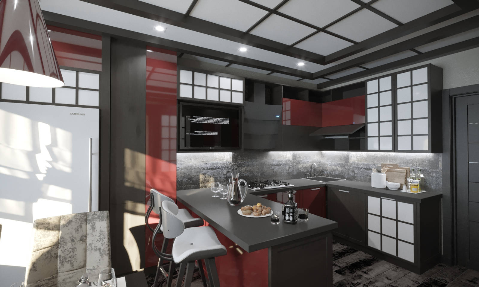 Дизайн кухни в квартире Киев китайский стиль