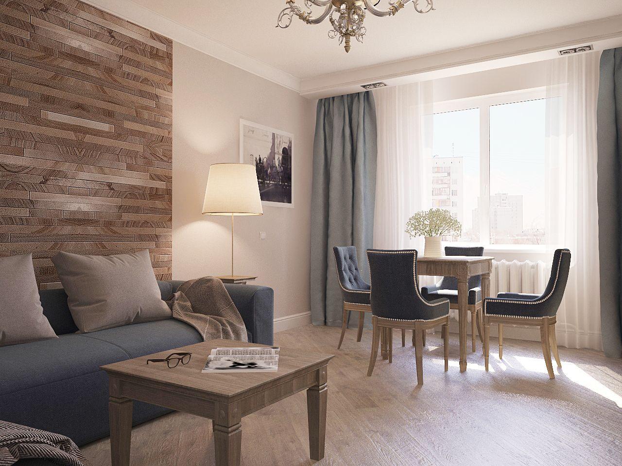 Дизайн нтерьера гостинной Киев прованс, классика