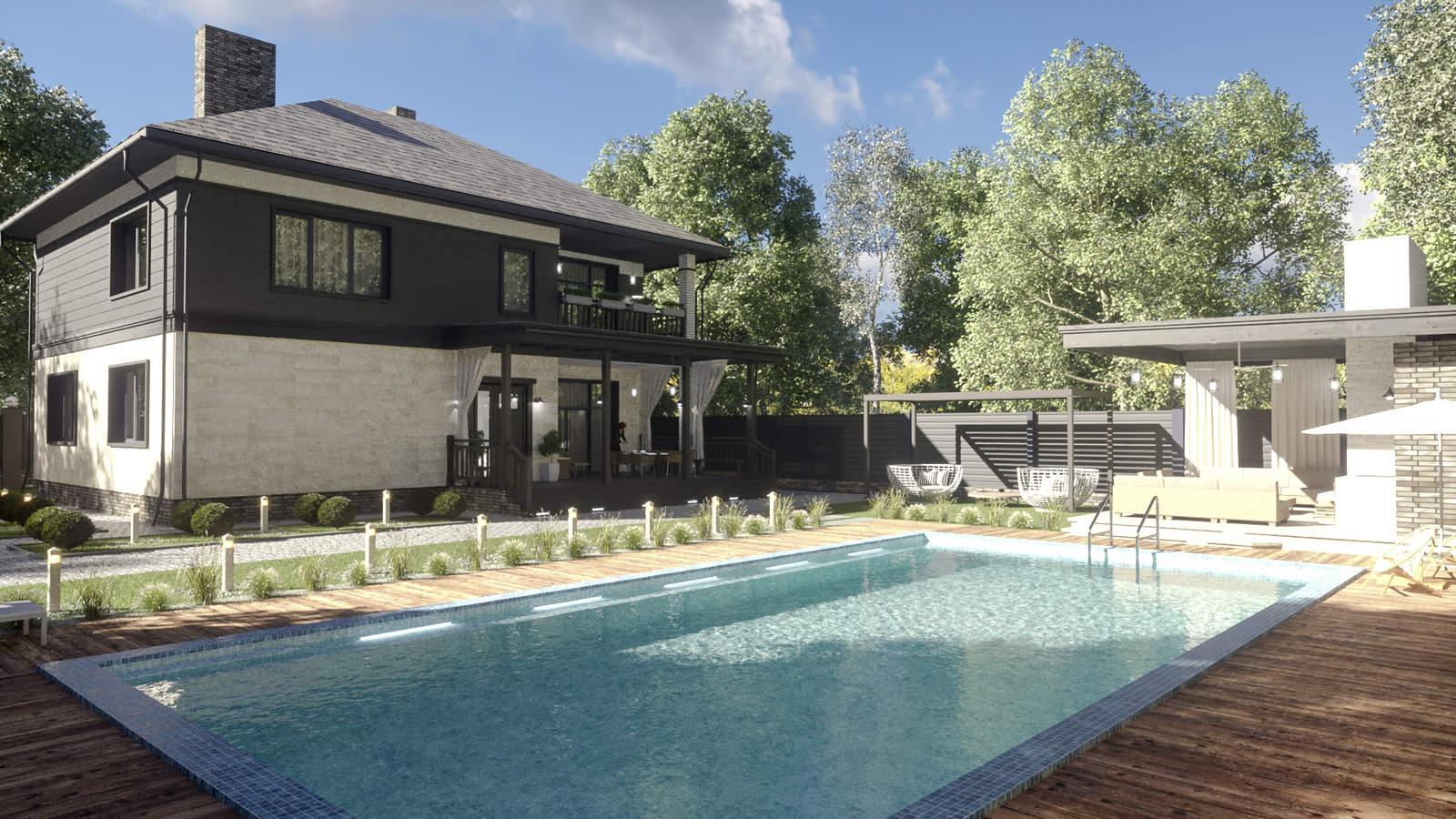 Дизайн фасада и ландшафта