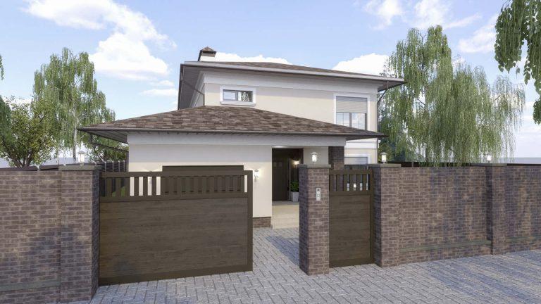 дизайн фасада в Новых Петровцахх