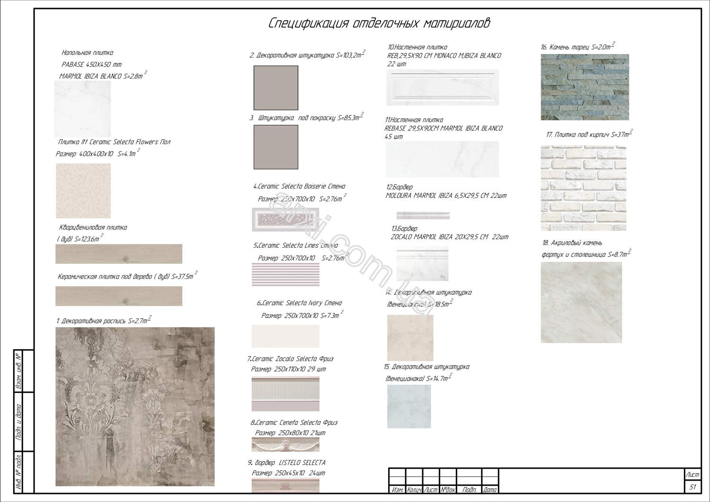 Дизайн проект интерьера квартиры пример фото киев спецификация материалов