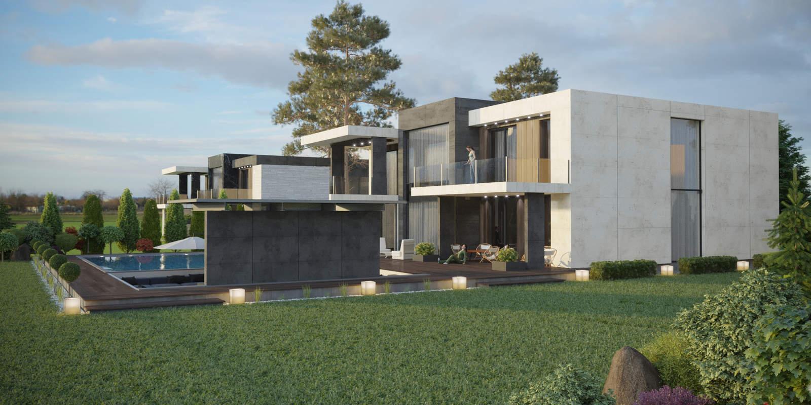 дизайн фасада, дизайн ландшафта