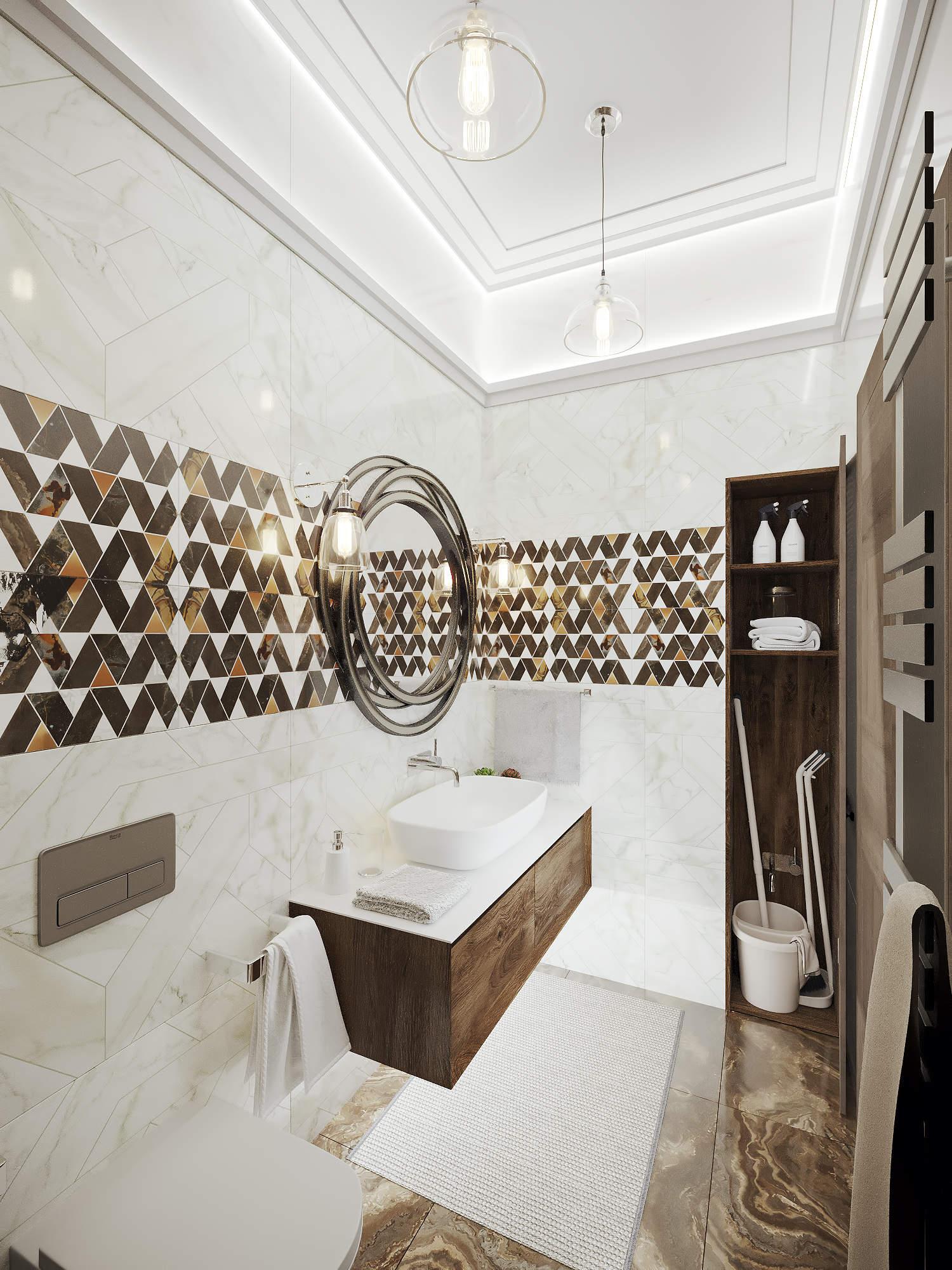 Дизайн санузла и ванной в современном стиле