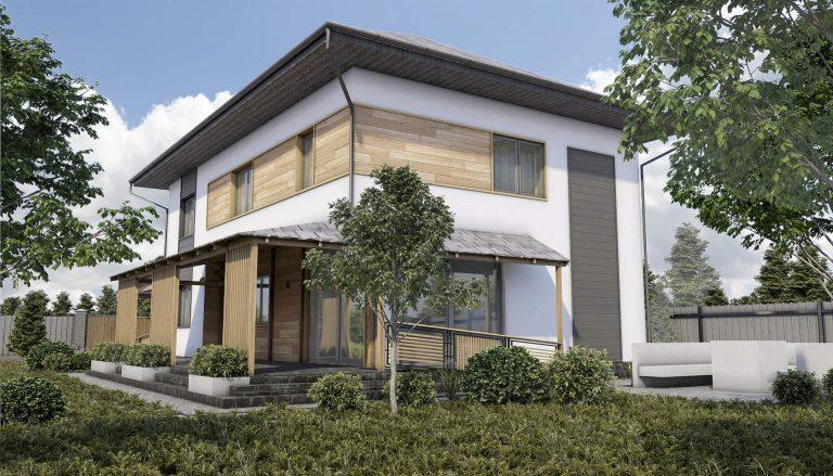 дизайн фасад в современном стиле