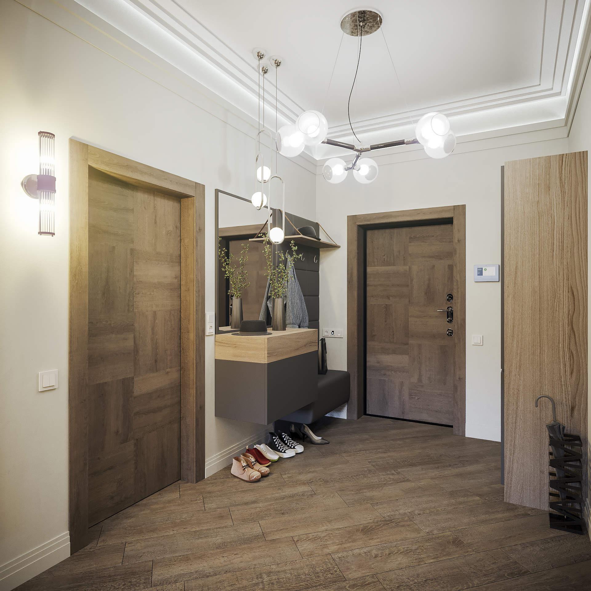 Дизайн коридора в современном стиле