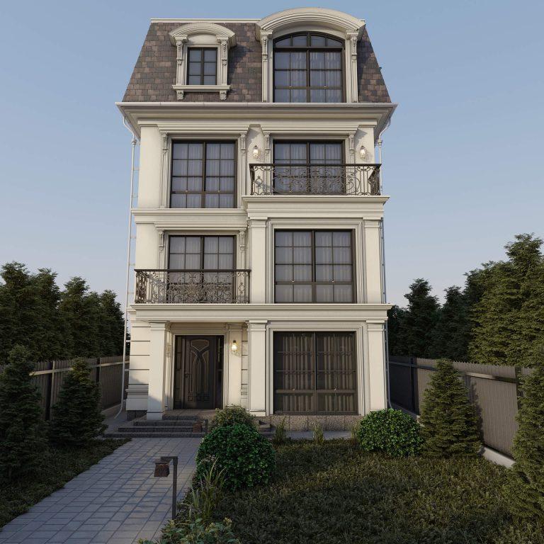 дизайн фасад в классическом стиле